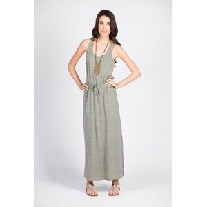 Dresses & Skirts - NEW Heather Sage Drawstring Jersey Maxi Dress